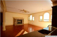 Beautiful fireplace with beautiful views! #homeforsale #fireplace