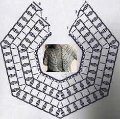 diagram with so much potential: you can make a shawlette, a shawl, and by closing it in a round it becomes a poncho, a skirt, or even a tunic by adding two shoulder straps...