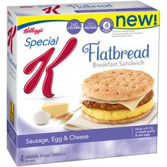 Checkout this prepared frozen Flatbread Breakfast sandwiches from Special K! Ranging from Points + each, these low calorie breakfast sandwiches are perfect for a low calorie breakfast on the go. Weight Watchers Points, Weight Watchers Meals, Ww Recipes, Easter Recipes, Healthy Recipes, Recipies, Healthy Breakfasts, Healthy Options, No Calorie Foods
