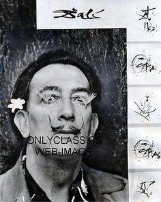 1965-SURREALIST-ARTIST-SALVADOR-DALI-PHOTO-ART-MUSTACHE-QUIRKY-MAGNIFICENT-STYLE