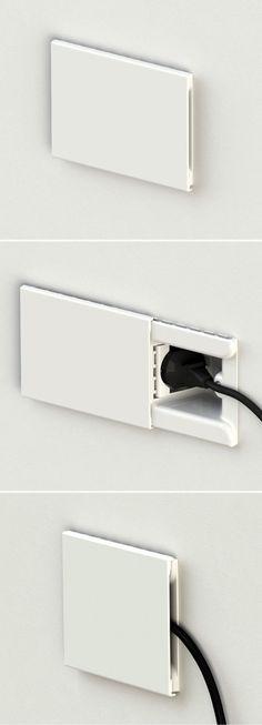 Astucieuse prise électrique qui permet de cacher les fiches #design #maison…