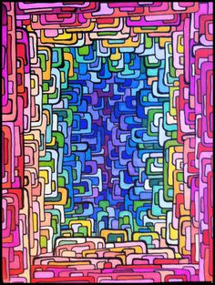 Doodled Art: the gradation of colors and simplicity of the lines is awesome!