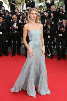 The absolute best of Cannes red carpet fashion: Rosie Huntington-Whiteley in Gucci in 2014.