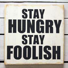 word. hungry = foolish