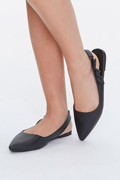 Slingback Flats, F21, Trendy Fashion, Kitten Heels, Forever 21, Pairs, Ankle, Leather, Content