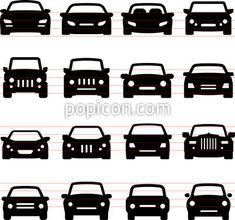 Car Icons - Front Views