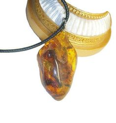 Genuine amber stone pendant necklace Baltic amber pendant