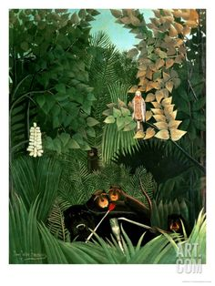The Monkeys, 1906 Giclee Print by Henri Rousseau at Art.co.uk