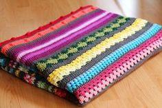Rainbow sampler blanket - A free crochet pattern guide on haakmaarraak.nl, #Crochet #haken, gratis patroon, Nederlands, regenboog deken, tutorial, #haakpatroon