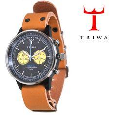 TRIWA(トリワ)  リストウォッチ 腕時計 キャメル×ブラック クロノグラフ 【送料無料】 wc-triwa-040
