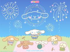 Download Cinnamoroll With Japanese Fireworks Wallpaper | Full HD ...