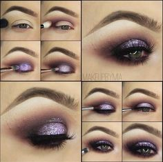 "2 Stunning EOTD Pictorials - Pop of purple glitter tutorial from makeupbymia ""Cupcake Sprinkles"" has beat out ""Unicorn Party"" for her favorite Violet Voss"