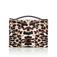 Valentino Leopard Clutch ($2,295) ❤ liked on Polyvore featuring bags, handbags, clutches, leather clutches, leopard handbag, leather coin pouch, leopard purse and leopard print handbags