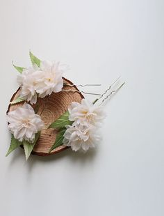 Cherry blossom hair pinbridal headpiecesilk wedding by mellowdear
