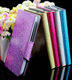 Luxury bling #glittery powder pu leather flip #wallet case cover for htc #desire ,  View more on the LINK: http://www.zeppy.io/product/gb/2/271881472822/