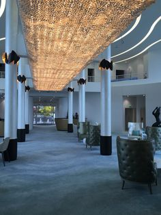 Incredible illuminated porcelain petal ceiling #interiordesign #porcelain #luxury #lighting #craftsmanship