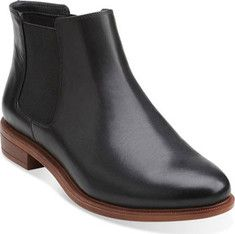Clarks Taylor Shine - Black Leather with FREE Shipping & Exchanges. The Clarks Taylor Shine boot flaunts a streamlined and chic design. An