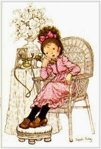 a postcard by Sarah Kay, printed by Paperitaide, from the year 1979 Sarah Key, Hobbies For Women, Holly Hobbie, Creative Pictures, Cute Illustration, Vintage Cards, Childhood Memories, Art For Kids, Nostalgia