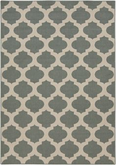 Moroccan style lattice pattern rug would be the ideal backdrop for a cozy porch surrounded by lanterns and cushions. This Alfresco Collection rug is made for the outdoors and is available in 3 colors from Surya. (ALF-9585)