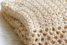 How to crochet an easy mesh stitch