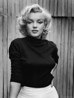Portrait of Actress Marilyn Monroe on Patio of Her Home Premium Photographic Print