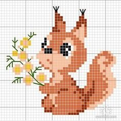Ideas For Embroidery Designs Free Animals Cute Cross Stitch, Cross Stitch Cards, Cross Stitch Animals, Cross Stitch Flowers, Cross Stitch Designs, Cross Stitching, Cross Stitch Embroidery, Embroidery Patterns, Hand Embroidery