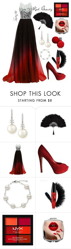 """""""Red Beauty"""" by siren74 ❤ liked on Polyvore featuring Belpearl, Christian Dior and NYX"""