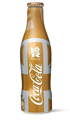 Exclusive limited edition Gold Olympics London Coca-Cola bottle