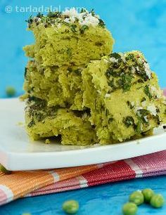 Green peas dhokla, easy and delicious dhoklas that are made nutritious by the addition of green peas, which are full of fibre and also impart a nice green colour. Besan is a versatile ingredient that is used to make most farsaans. Citric acid crystals are added to impart the required tanginess to this dhokla; you can also use lemon juice.