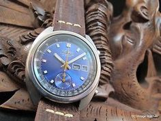For Sale: Seiko Automatic Chronograph, w/ClockWork Synergy Distressed Leather Strap & Case Seiko Men, Distressed Leather, Vintage Watches, Chronograph, Ebay, Accessories, Antique Watches, Vintage Clocks, Jewelry Accessories