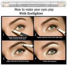 My favorite makeup trick ever! The easy eye brightening trick #beauty #tips #makeup