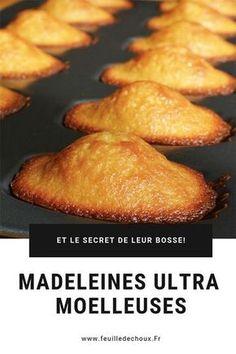 Recipe for a fluffy madeleine - Leaf . - Recipe for a fluffy madeleine – Cabbage leaf - Desserts With Biscuits, Mini Desserts, Christmas Desserts, Easy Cake Recipes, Cookie Recipes, Dessert Recipes, Homemade Hummingbird Food, Madeleine Recipe, Cake Factory