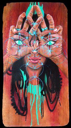 Miles Toland Artwork From Vaayu Art Resdincye in Goa India Arte Dope, Dope Art, Art And Illustration, Trance Musik, Mundo Hippie, Art Magique, Psychadelic Art, Psy Art, Spirited Art