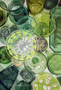 CIRCLES, No. 3  - original watercolor painting. $1,700.00, via Etsy.