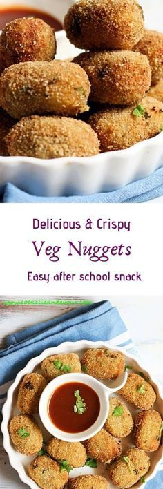 Veg nuggets recipe is a crispy and tasty starter or snack with mixed vegetables. So easy to make and exceptionally Veg Recipes, Indian Food Recipes, Vegetarian Recipes, Snack Recipes, Cooking Recipes, Healthy Recipes, Indian Foods, Yummy Snacks, Yummy Food