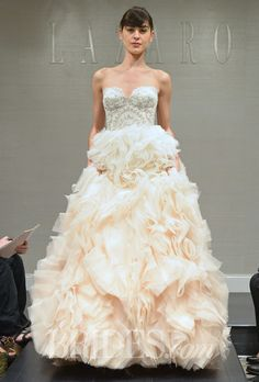 Lazaro Wedding Dresses Spring 2015 Bridal Runway Shows Brides.com   Wedding Dresses Style   Brides.com