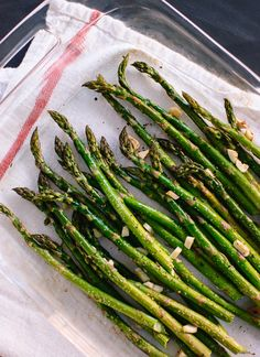 New on Delish Dish: Learn how to make delicious Garlic-Roasted Asparagus!