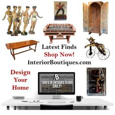 Our latest finds  comprises of antiques, mid-century, vintage and decorative pieces from around the world by well-known and trusted boutiques. Keep an eye out on this page for new pieces that are introduced daily. You are sure to find that something special you are looking for.