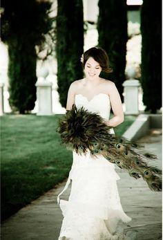 Glamorous Peacock Wedding Details