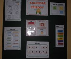 Kalendář přírody do třídy, určování dne v týdnu, ročního období, měsíce, počasí. Monopoly, Montessori