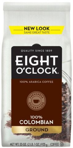 Eight O'Clock Coffee, 100% Colombian Ground, 33-Ounce Bag - http://www.freeshippingcoffee.com/brands/folgers/eight-oclock-coffee-100-colombian-ground-33-ounce-bag-2/ - #EightO'ClockCoffee, #Folgers