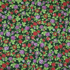 floral viscose jersey dressmaking fabric | material | Ditto Fabrics online shop