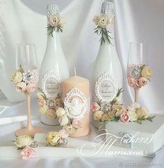 Персиковая пастель свадебный набор – купить или заказать в интернет-магазине на Ярмарке Мастеров   Набор аксессуаров в нежной-розово-персиковой…