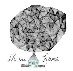 We are Home 8x10 Fine Art Archival Print of Original Pen and Ink Drawing-Kraljevic