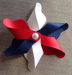 Diy Paper, Paper Art, Paper Crafts, 17. Mai, Cute Crafts, Diy And Crafts, 4th Of July Decorations, Fair Projects, Fourth Of July