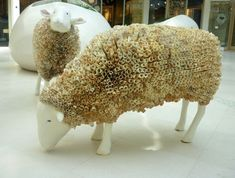 PRESENT - Paper Art - Paper used to create to wool on this sheep, created by Natalie Ferstendik. (Leah Oripaypay, 2011)