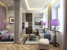 Este apartamento de al lado en realidad utiliza el mismo plano que la primera, pero con algunas diferencias de estilo.
