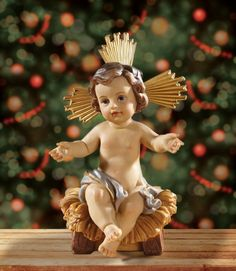 Infant Jesus In Manger Statue, Removable, Advent Christmas Nativity Figurine Catholic Art, Religious Art, Religious Gifts, Christian Calendar, Infant Of Prague, Religious Pictures, Mary And Jesus, Christmas Nativity, Blessed Mother