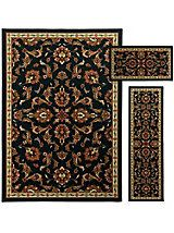 Set of 3 traditional floral rugs   Solutions