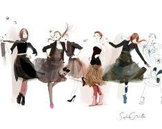 Illustrations de la peintre Sophie Griotto | Adriana Lima et Sophie Griotto et autres photos paysages et mannequins